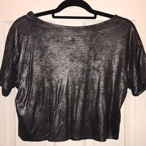 Hollister Tops - Hollister silver shimmer top